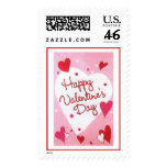 """Happy Valentines Day"" Hearts Stamps"