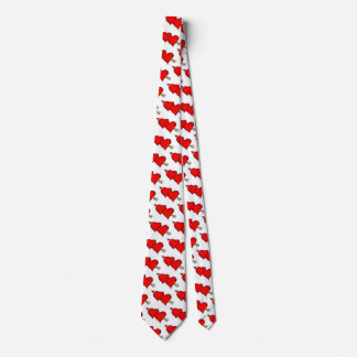 Happy Valentine's Day Hearts Tie
