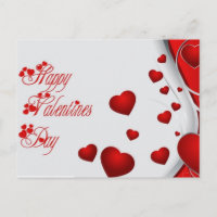 happy Valentines Day Holiday Postcard