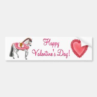 Happy Valentines Day Horse Bumper Sticker
