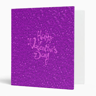 happy Valentines Day, hot pink 3 Ring Binders
