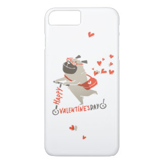 Happy Valentine's Day iPhone 7 Case With Pug