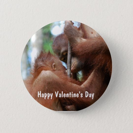 Happy Valentine's Day Kiss Pinback Button