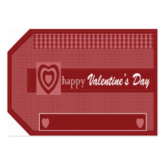Happy Valentines Day Large Business Card