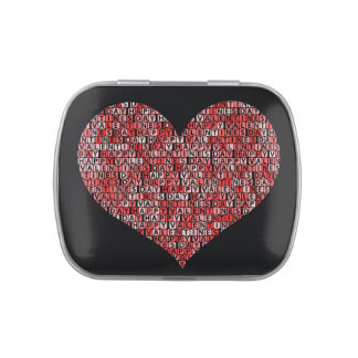 Happy Valentines Day Letter Tiles Candy Tins