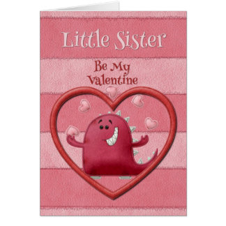 Happy Valentine's Day Little Sister Card