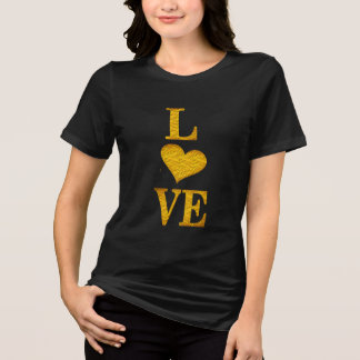 happy valentine's day love in gold t-shirt design
