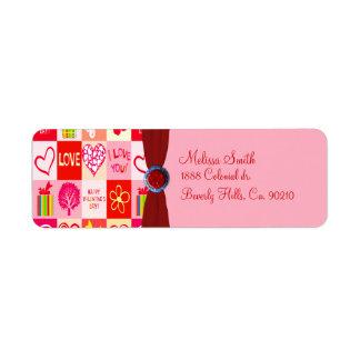 Happy Valentines Day Love Custom Return Address Label