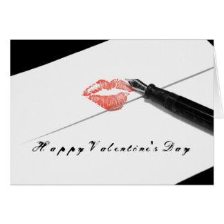 Happy Valentine's Day Love Letter Card