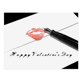 Happy Valentine's Day Love Letter Postcard