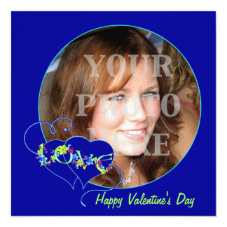 Happy Valentine's Day Love Photo Card Invitation