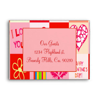 Happy Valentines Day Love Size A7 Envelope