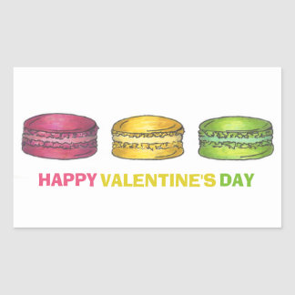 Happy Valentine's Day Macaron Stickers