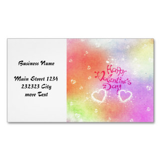happy valentines day magnetic business card