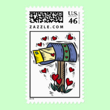 Happy Valentines Day Mailbox Stamp - Also for someone you haven't seen for a long time, someone away at school or college, military personnel stationed far away, someone you left behind while you travel away.