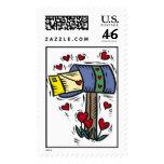 Happy Valentines Day Mailbox Postage Stamps