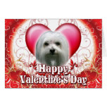 Happy Valentines Day Maltese Greeting Card