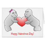 Happy Valentines Day - Manatee love card
