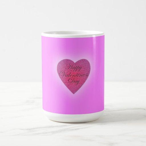 Happy Valentine's Day Marble Ink Coffee Mug