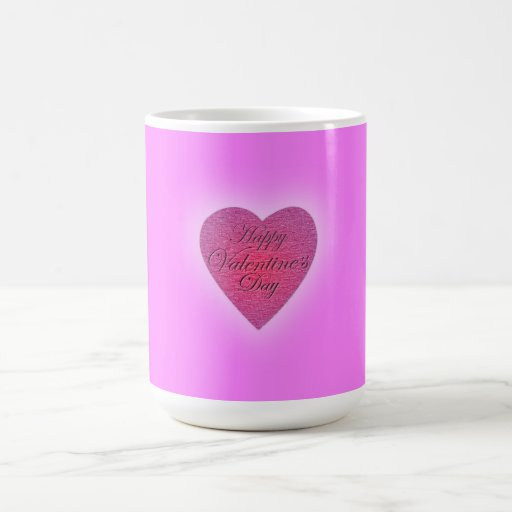 Happy Valentine's Day Marble Ink Mugs