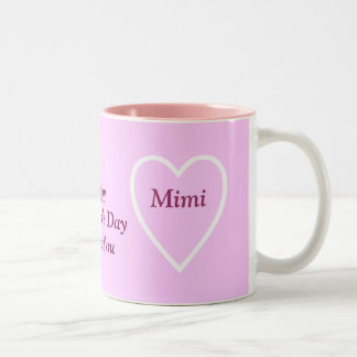 Happy Valentine's Day Mimi - I Love You Two-Tone Coffee Mug