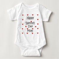 Happy Valentine's Day Mom Baby Bodysuit
