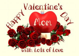 Happy Mom Valentines Day Cards Zazzle