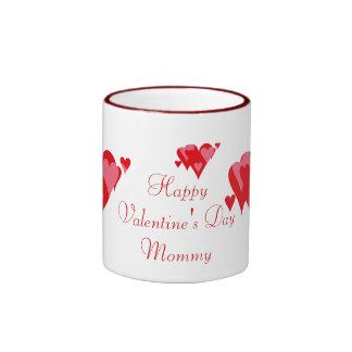 Happy Valentine's Day Mommy Ringer Mug