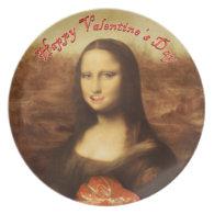 Happy Valentine's Day Mona Lisa ! Plates