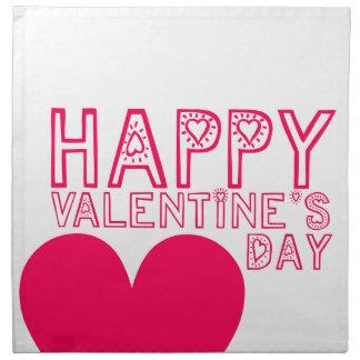 Happy Valentine's day Napkin Cute typography