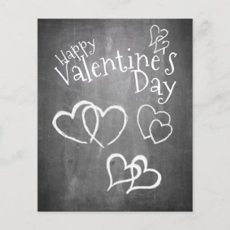 Happy Valentine's day on a chalk board