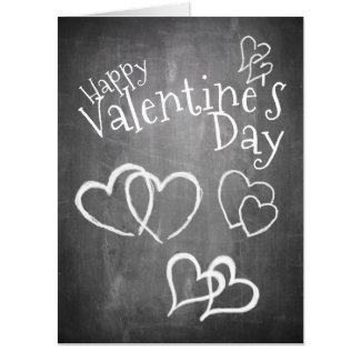 Happy Valentine's day on a chalk board Card