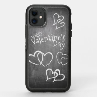 Happy Valentine's day on a chalk board OtterBox Symmetry iPhone 11 Case