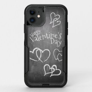 Happy Valentine's day on a chalk board OtterBox Commuter iPhone 11 Case