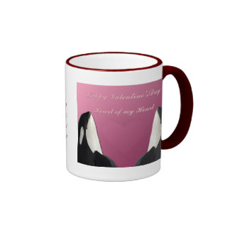Happy Valentines Day Orca Killer Whale Heart of My Mug