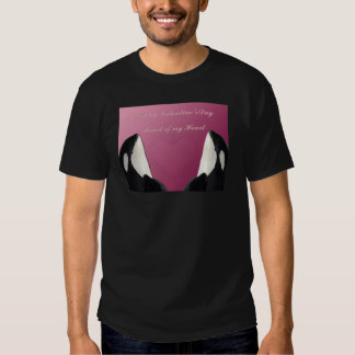 Happy Valentines Day Orca Killer Whale Heart of My Tee Shirt