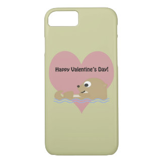 Happy Valentines Day Otter iPhone 7 Case