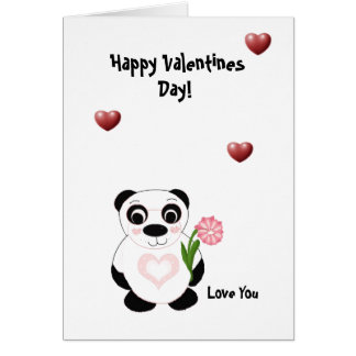 Happy Valentines Day  - Panda Bear Greeting Card