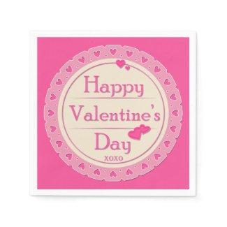 Happy Valentine's Day Paper Napkins