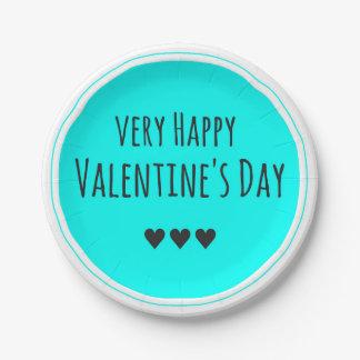 Happy Valentine's Day Paper Plate