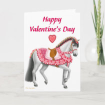 Happy Valentines Day Parade Horse Card
