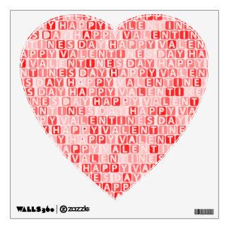 Happy Valentine's Day Pattern Wall Sticker