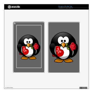 Happy Valentine's Day Penguin Kindle Fire Decal