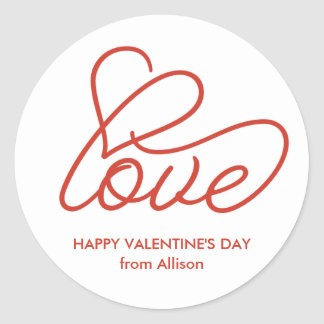Happy Valentine's Day Personalized Love Sticker
