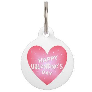 Happy Valentine's day Pet ID Tag