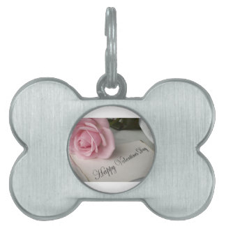 Happy Valentines Day Pet Name Tag