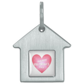 Happy Valentine's day Pet Name Tag