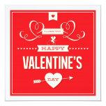Happy Valentine's Day Photo Flat Card Personalized Invite