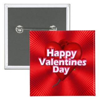 Happy Valentines Day Pinback Button