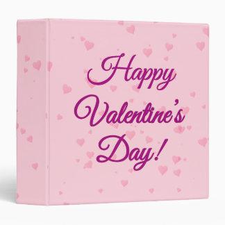 Happy Valentine's Day | Pink and Purple Hearts Binders